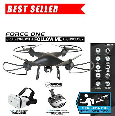 Force one GPS Drone 720p Camera FPV WIFI Altitude Hold with Follow Me Technology