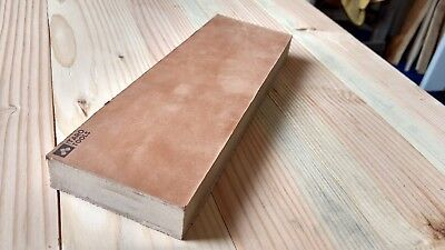 """FLAT Leather Strop Block 10x3"""" Smooth and Suede Sides - CLEARANCE B STOCK"""