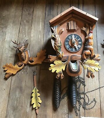 2 Vintage Made In Germany Coo Coo Clocks For Parts And Repair 1953