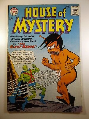The House of Mystery #143 1st Silver Age J'onn J'onzz! Good Condition! Pc Cut fc