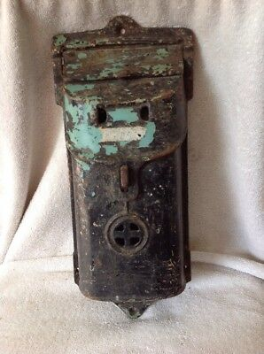 Griswold Wall Mounted Cast Iron Mailbox Erie PA 108/708 (?)Postal Box, Post Mail