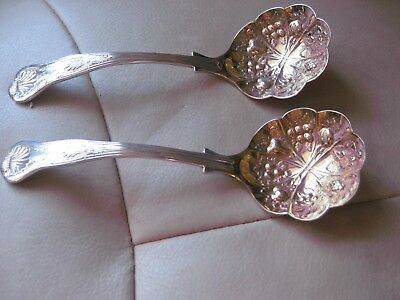fruit ladles kings pattern guilded bowls