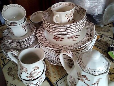 Meakin Staffordshire Pottery Part dinner service.