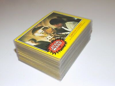 1977 Topps STAR WARS Series 3 (Yellow) Near Set of (60) Different EX