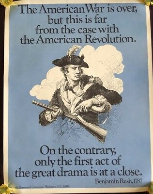 Peoples Bicentennial Commission Poster - Benjamin Rush Quote - Revolutionary War