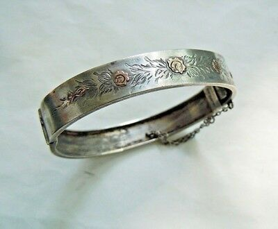 imperial RUSSIAN 84 Silver with Gold inserts Bracelet workmaster Faberge