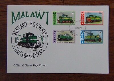 Malawi 1976 Malawi Locomotives set on First Day Cover
