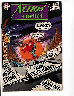 Action Comics 368,370,371,372 (note 371 was never stapled)  (lot of 4) fillers