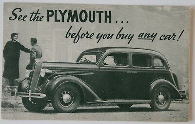 PLYMOUTH 1936 Factory vintage postcard CPA ST30500618