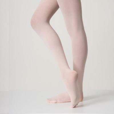 New in Package CAPEZIO Black Tights 1815X 1815C Ultra Soft Footed Tights Girls