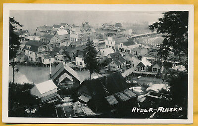 Hyder, Alaska real photo picture postcard RPPC town on stilts!