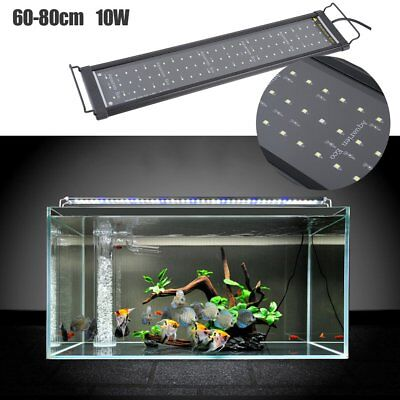 60-80cm Fish Tank Aquarium Lighting Coral Aquario Lamp Telescopic Bracket Light