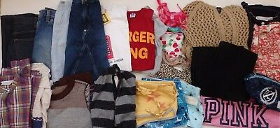 Misses Junior LOT Gap A&F Victoria Secret Pink American Eagle clothing lot S-XS