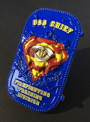 USS CHIEF Superman Door Navy Chief Coin Military Art Navy CPO Challenge Coin