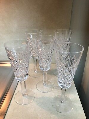 """Waterford Crystal Alana Champagne Flutes 7 1/4"""" Set of 6"""