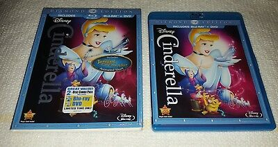 CINDERELLA (Blu-ray/DVD, 2-Disc Set, Diamond Edition) Disney Slipcover AUTHENTIC