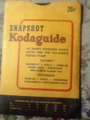 Vintage Dark Room Photography Snapshot Kodaguide 1940s