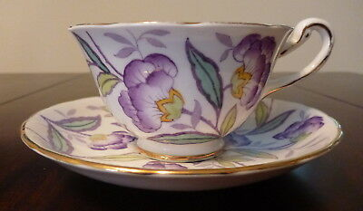Royal Chelsea floral Teacup and saucer 4180A