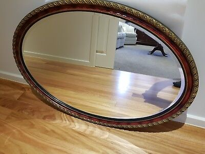 Period Mirror - Oval Shaped Ornate Edged
