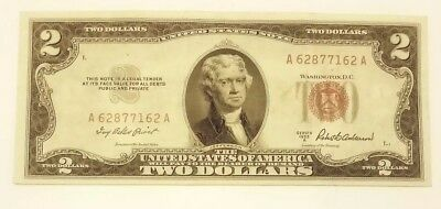 1953 - $2 Red Seal US Note - A62877162A