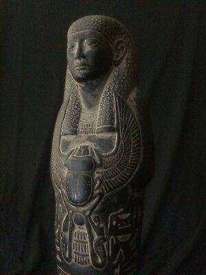 ANCIENT EGYPT EGYPTIAN ANTIQUITIES Statue USHABTI Shabti Black Stone 664-525 BC