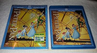 PETER PAN Walt Disney Diamond Edition Blu-ray/dvd 2 Disc Set Slipcover AUTHENTIC