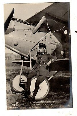 Original Ww1  German Ace Photo Postcard Alois Heldman Sanke 664 Look !