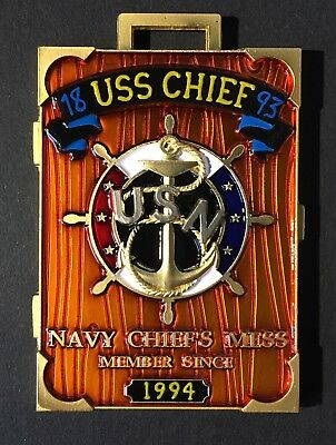 USS CHIEF Navy Chief Coin CPO Vessel Coin Military Art Navy CPO Challenge Coin