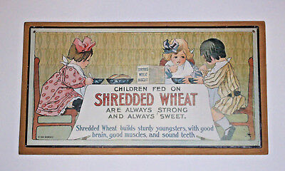 Antique Reproduction Shredded Wheat Ad on Wood - Cracker Barrel Style Home Decor