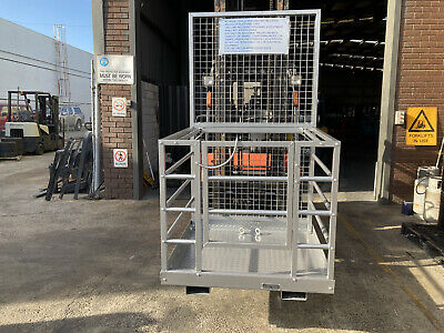 forklift safety cage, work platform new model with tool tray just $610 inc gst