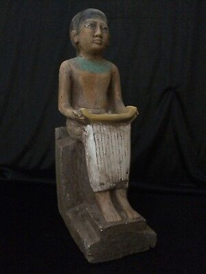 EGYPTIAN ANTIQUITIES ANCIENT EGYPT Statue God of Seated IMHOTEP 2650-2600 BC