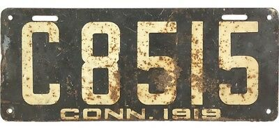 1919 Connecticut COMMERCIAL License Plate #8515 No Reserve