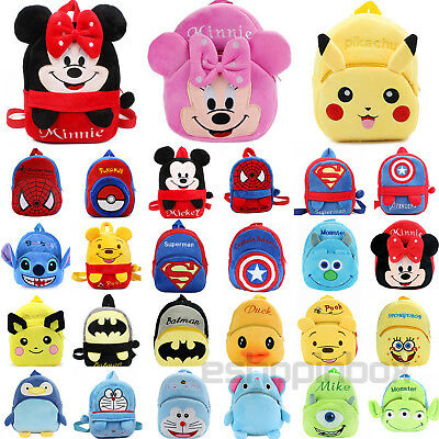 Toddler Boys Girl Plush Backpack Book School Mini Cartoon Rucksack Shoulder Bag