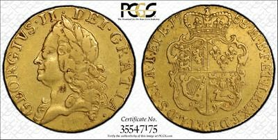 1758 Great Britain Gold Guinea Coin PCGS VF Details