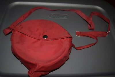 Vintage 1970's Boy Scouts of America Mess Kit Red Bag - 5 pieces- Pot Dishes