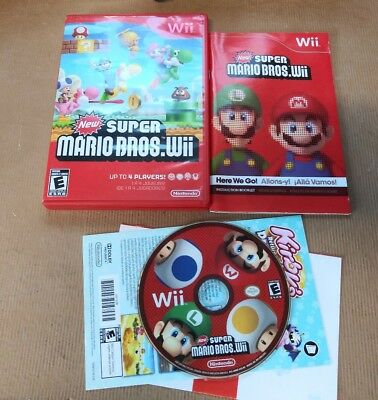 New Super Mario Bros.(Nintendo Wii, 2009) Tested Works Mint Disc Freeshipping