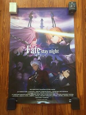 Fate Stay Night The Movie Heavens Feel Official US Theater Release Poster 27x40