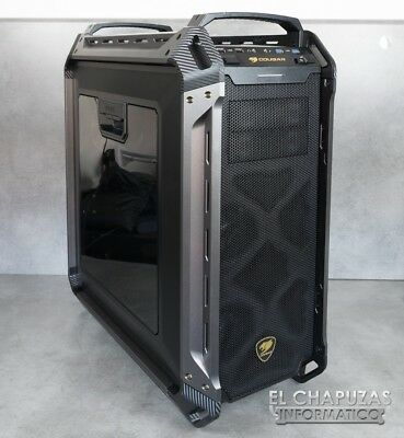 cougar panzer max case, with 3 rgb fans