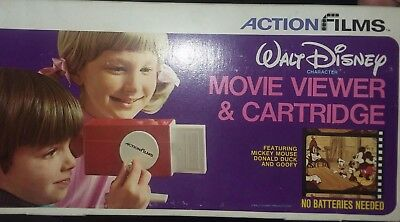 ActionFilms Walt Disney Movie Viewer & Cartridge Vintage (New In Unopened Box)