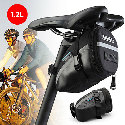 1.2L Waterproof Outdoor Bike Bicycle Cycling Saddle Bag Seat Storage Tail Pouch