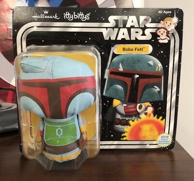SDCC 2018 Hallmark Exclusive BOBA FETT Itty Bittys Star Wars Plush RARE NEW