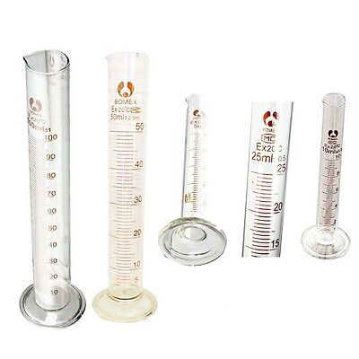 Exact Graduated Glass Measuring Cylinder Chemistry Laboratory Measure T1 New