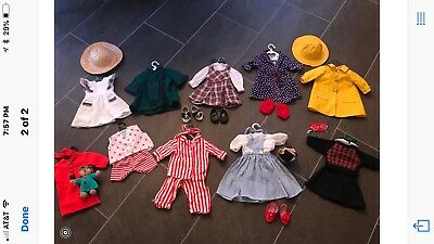 Two Vintage American Girl Dolls -With 14 Outfits