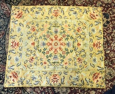 Marvelous Antique Chinese Silk Throne Cover With Fine Colors & Intricate Details