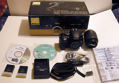 Nikon D5100 18-55VR Kit 2962 Shutter Count Lightly Used w/ Extra Battery