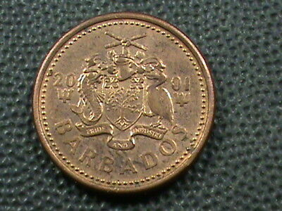 BARBADOS   1 Cent   2001   ,   $ 2.99  maximum  shipping  in  USA