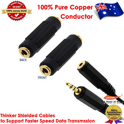 1.8M Gold Plated 3.5mm Stereo Audio M/F Extension Cable+3.5mm Stereo Coupler F/F