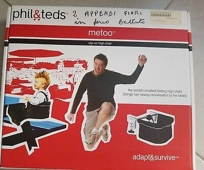 Phil & Teds MeToo Detachable clip-on high Chair Baby picnic Clamp Black