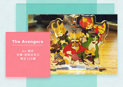 Marvel The Avengers Steve Bucky Thor Loki Acrylic Display Keychain keyring Be