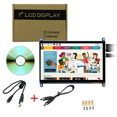 7 inch 1024x600 Raspberry Pi 2 3 B+ Capacitive Touch Screen HDMI LCD Display
